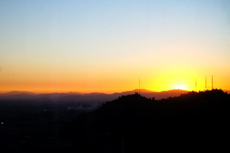 Sky Costanera Sonnenuntergang schoenster Ausblick Santiago