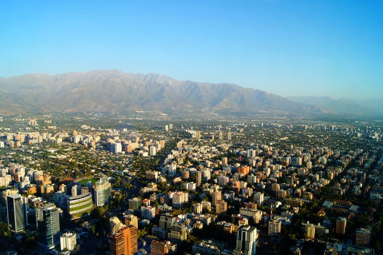 Sky Costanera Stadt Ausblick Santiago de Chile
