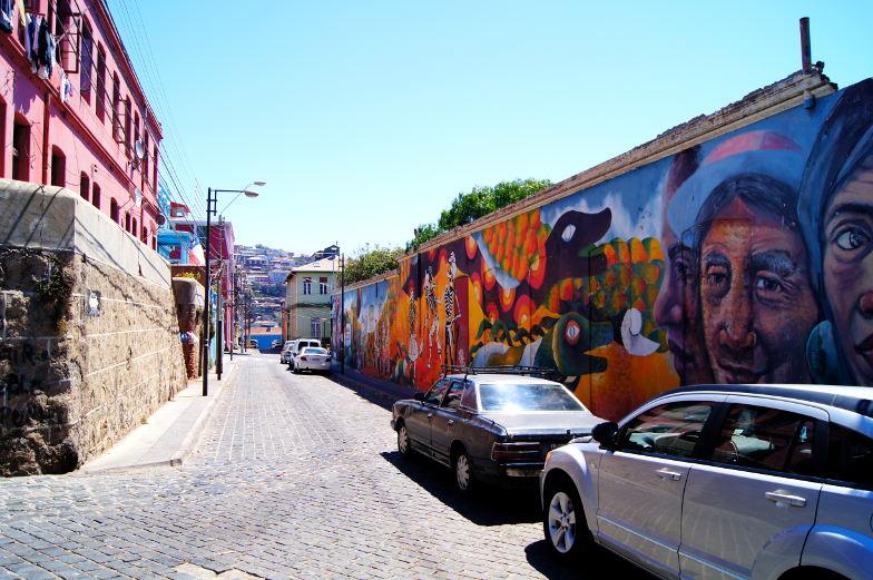 Graffitis findet man in Valparaiso an jeder Ecke