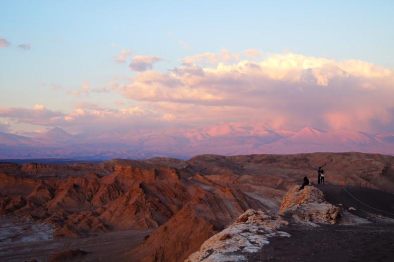 Ausblick von der Duene in der Atacama Wueste Sehenswuerdigkeiten