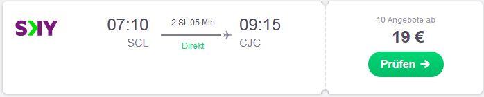 Flugsuche von Santiago nach Calama