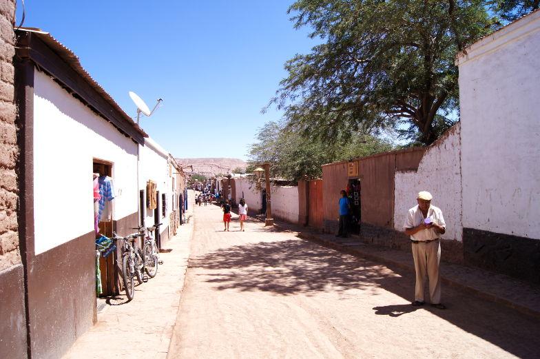 San Pedro de Atacama in der Caracoles Straße findet man Shops und Restaurants