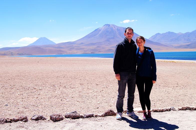 Tagestour zu den Altiplano Lagunen in der Atacama Wueste Chile