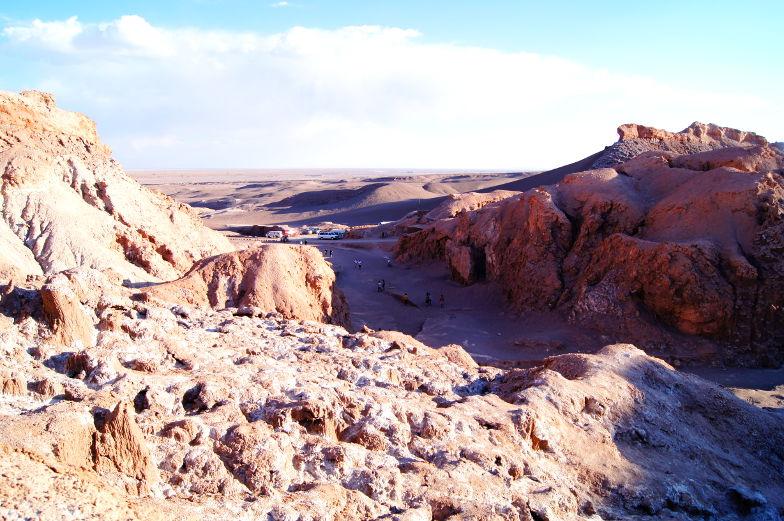 Blick auf die endlose Atacama Wueste