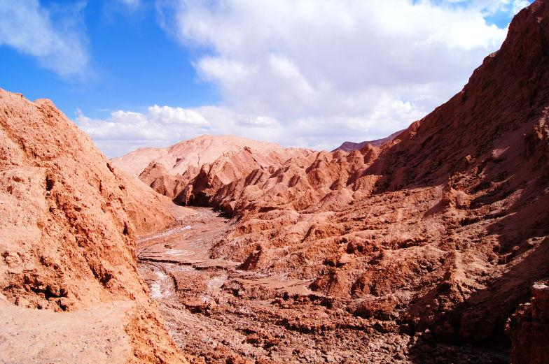 Sehenswuerdigkeit die Mondlandschaft in der Atacama Wüste