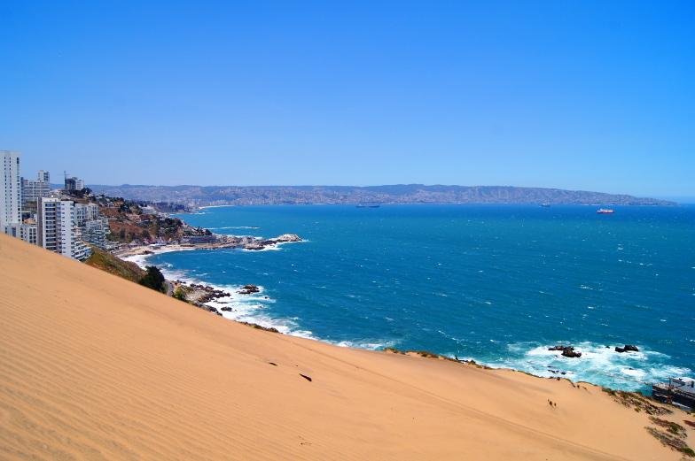 Steiler Abhang zum Pazifik