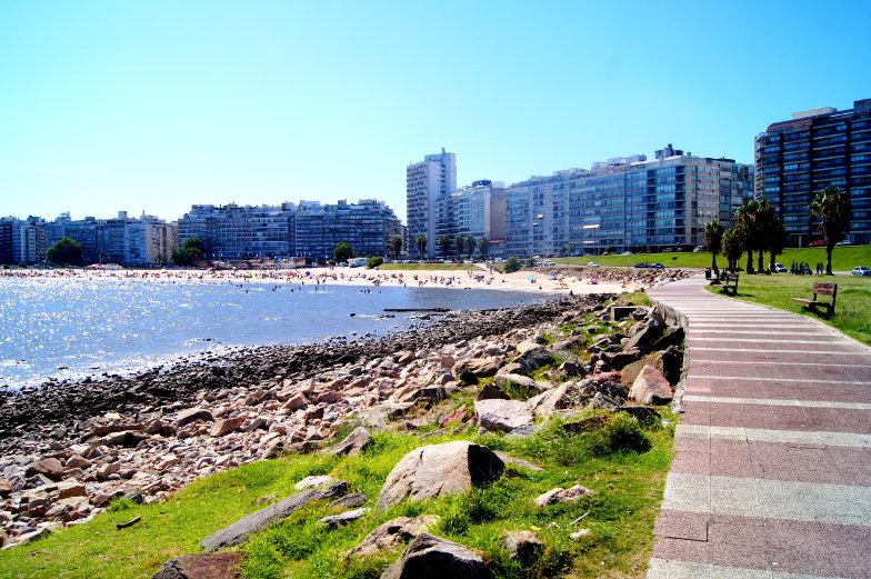 Spaziergang in Pocitos Montevideo