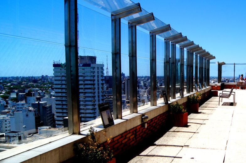 Kostenlose Sehenswuerdigkeiten von Montevideo die Aussichtsterasse des Placio Municipal