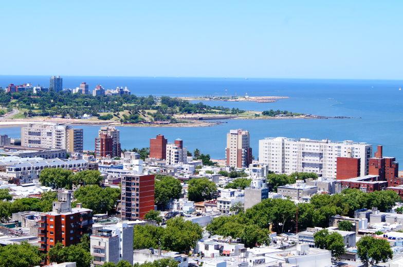 Blick auf Montevideo