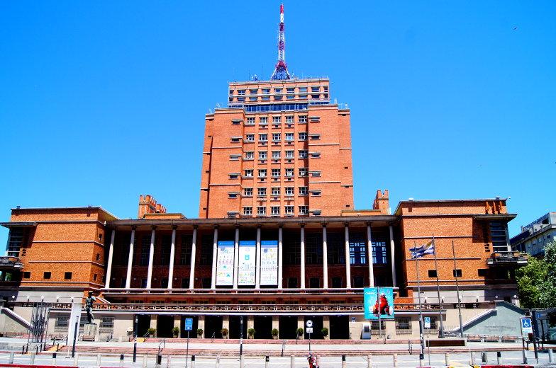 Sitz der Stadtverwaltung von Monatevideo und die kostenlose Aussichtsterasse