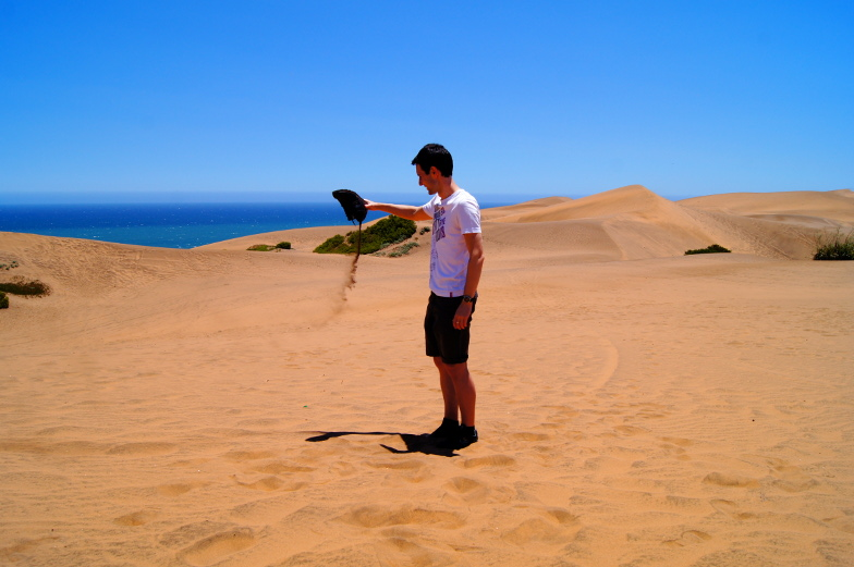 Viel Sand in den Schuhen beim Ausflug zu den Duenen von Concon