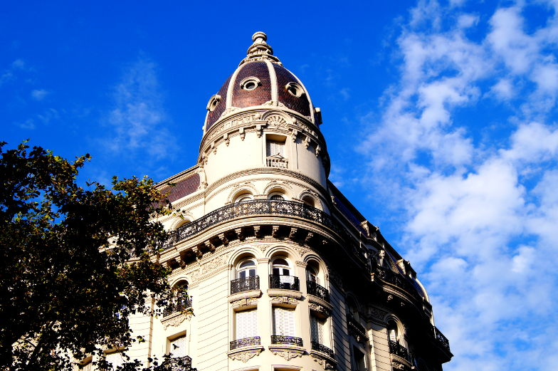 Blick nach oben lohnt sich in Montevideo
