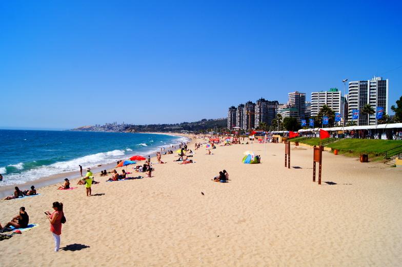 Nach den Duenen Concon gehts zum Strand nach Vina