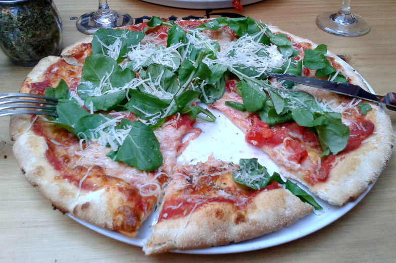 Essen und Trinken in Santiago de Chile Pizza