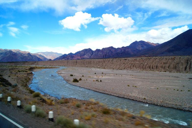 Grosser Canyon auf dem Weg von Chile nach Mendoza
