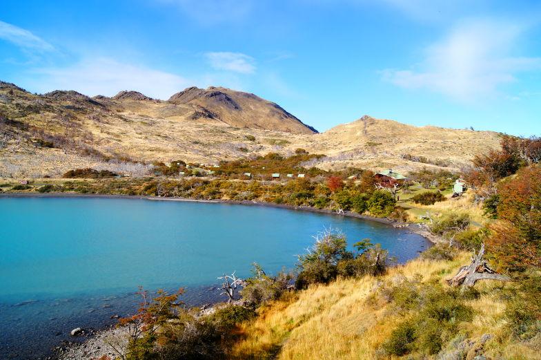 Bucht des Pehoe Lake Torres del Paine