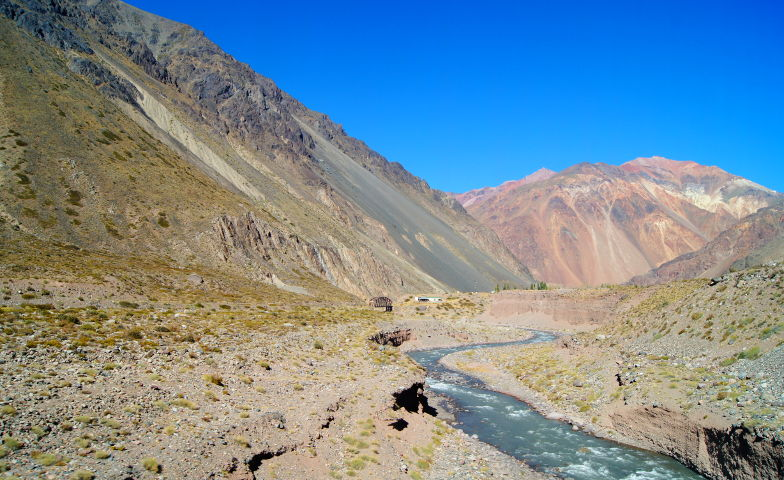 Geniale Landschaft auf der Busfahrt von Santiago nach Mendoza