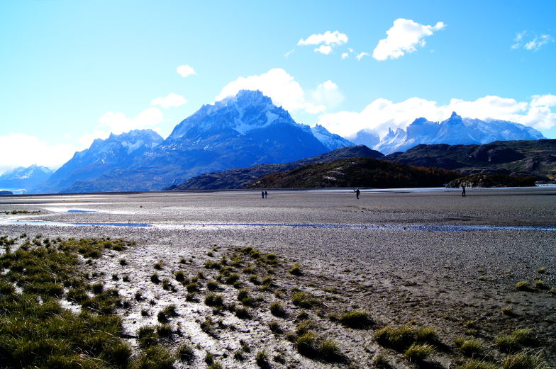Andere Landschaft am Grey Lake im Torres del Paine Nationalpark