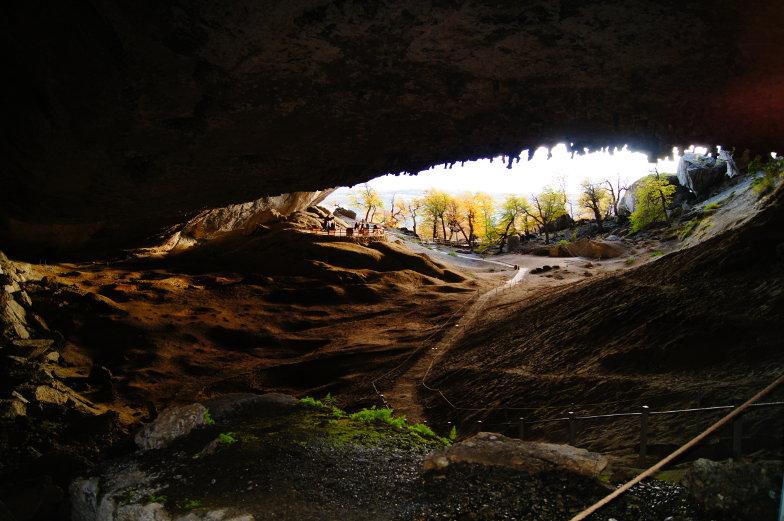 Blick aus der Milodon Cave