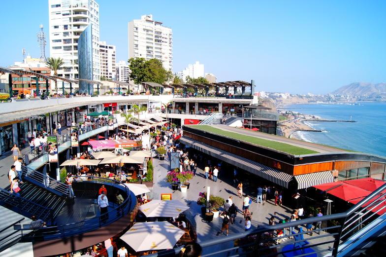 Lima Einkaufstipp direkt an der Pazifikkueste liegt die Mall Miraflores