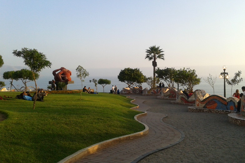 Der Liebespark in Miraflores Lima laedt zum entspannen ein Tipp
