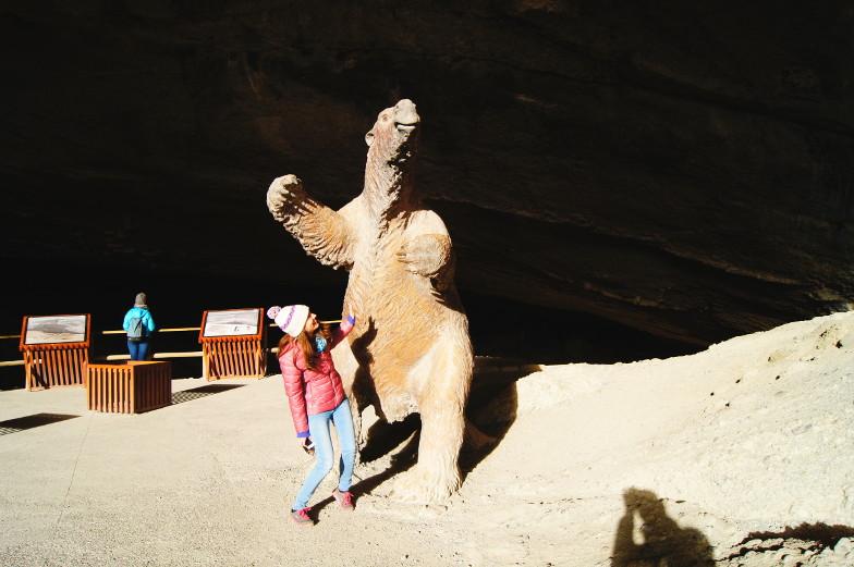 Milodon Riesenfaultier Ausflug beim Torres del Paine