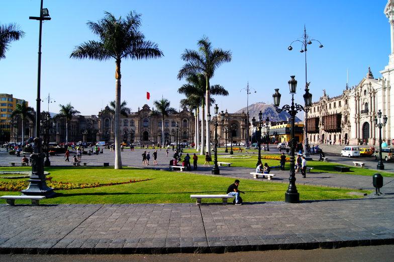 Tipp Regierungspalast auf dem Plaza Mayor in Limas Altstadt