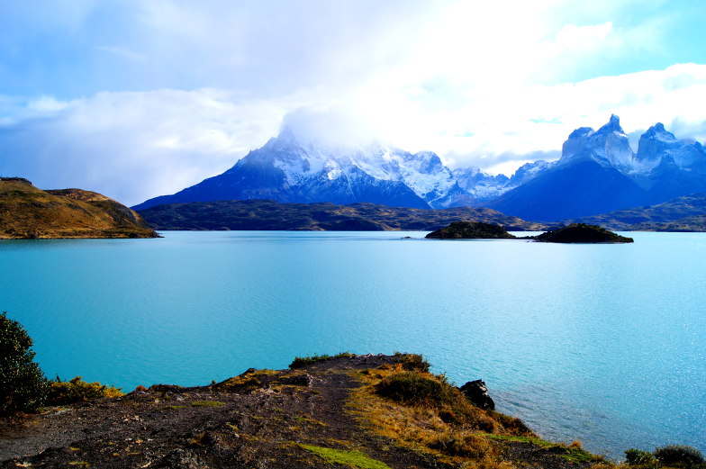 Pehoe Lake Panorama Torres del Paine Nationalpark