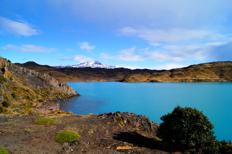 Ausblick Pehoe Lake Torres del Paine Nationalpark