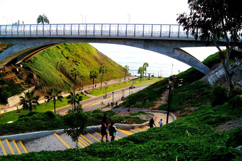 Lima Tipp der Weg zum Strand in Miraflores
