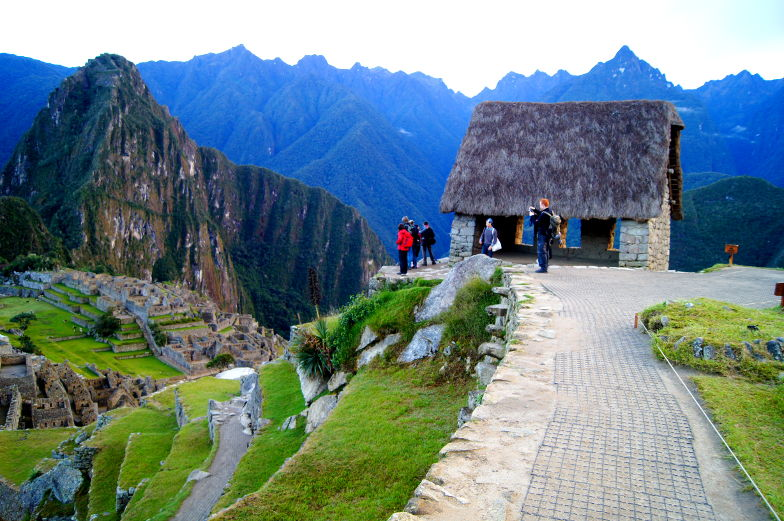 Panoramablick vom House of the Guardians Machu Picchu