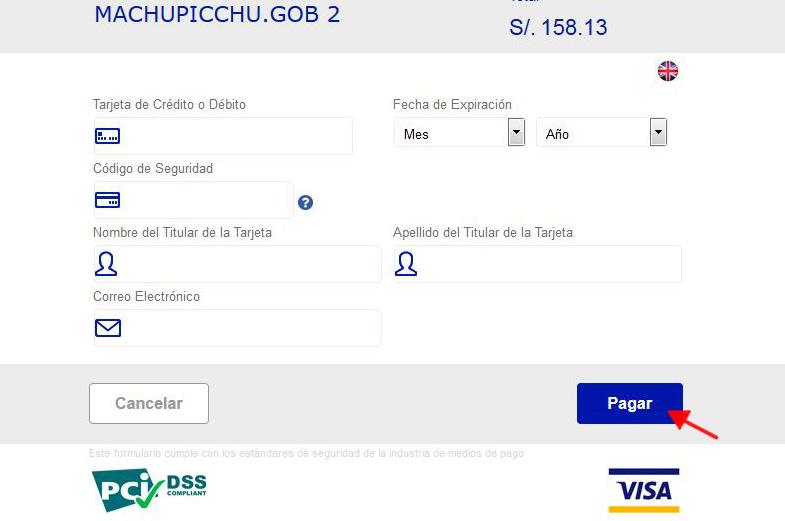Mit Kreditkarte das Machu Picchu Ticket zahlen