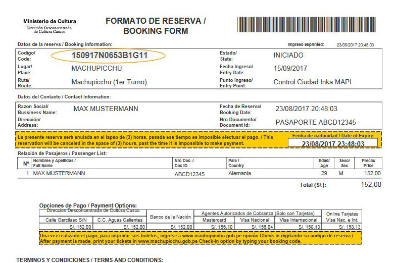 So kaufst du dein Machu Picchu Ticket online