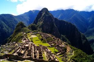 Ein schoener Ueberblick auf Machu Picchu