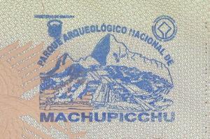 Machu Picchu Stempel fuer deinen Reisepass