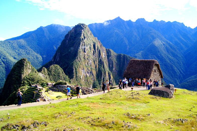 Berge und das Guardians House Machu Picchu