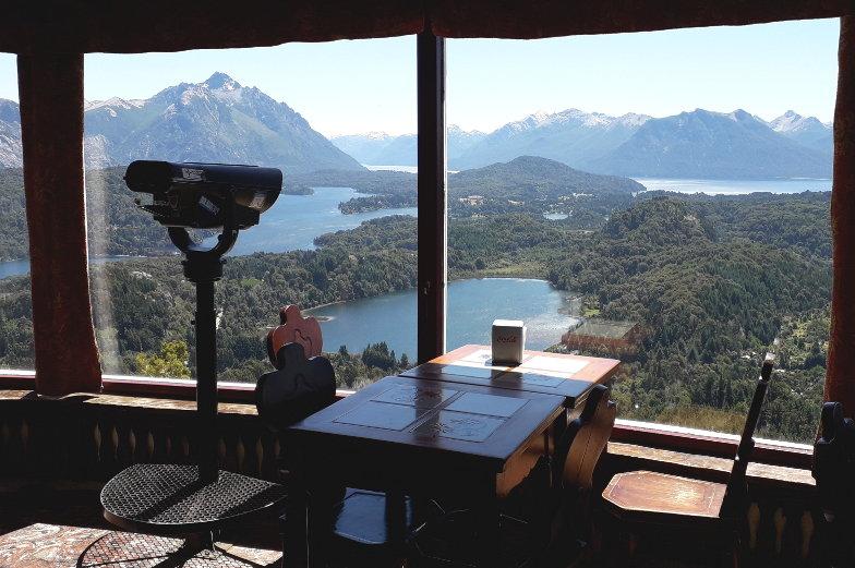 Restaurantausblick vom Berg Campanario in Bariloche