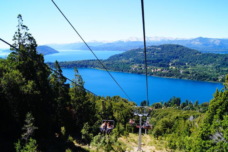 Aussicht vom Sessellift Cerro Campanario Bariloche