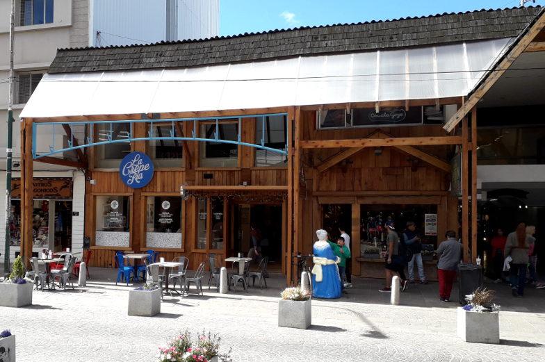 Typisches Holzhaus in Bariloche