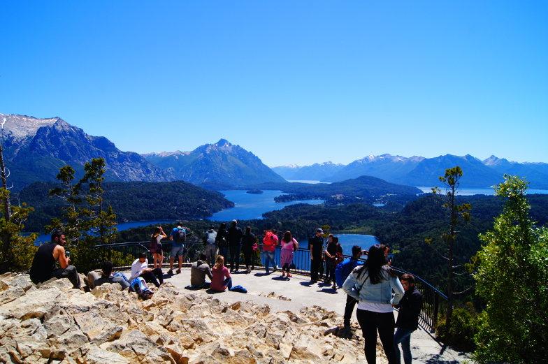 Aussichtsterasse auf dem Berg Campanario in Bariloche