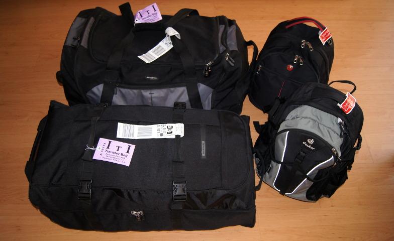 Praktische Reisetaschen mit Rollen fuer die Weltreise