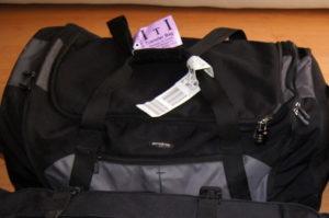 Eine flexible Reisetasche mit Rollen und viel Stauraum fuer die Weltreise