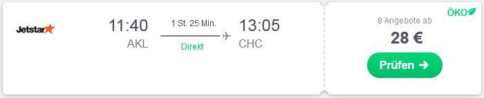 So kommst du guenstig von Auckland nach Christchurch mit dem Flugzeug