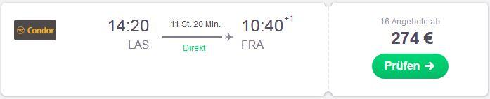 Mit der direkten Flugroute von Las Vegas nach Deutschland