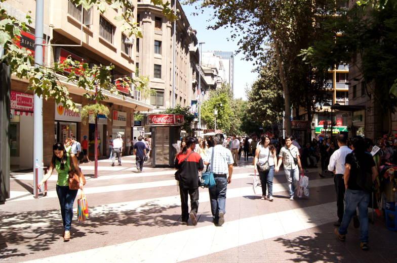 Tipps Innenstadt mit vielen Geschäften in Santiago de Chile