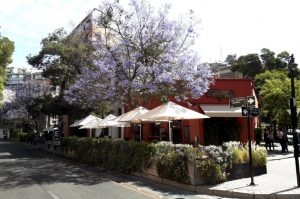 Das Kulturzentrum befindet sich im Stadtteil Lastarria von Santiago