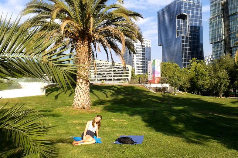 Der Park Araucano in Santiago eignet sich perfekt zum entspannen