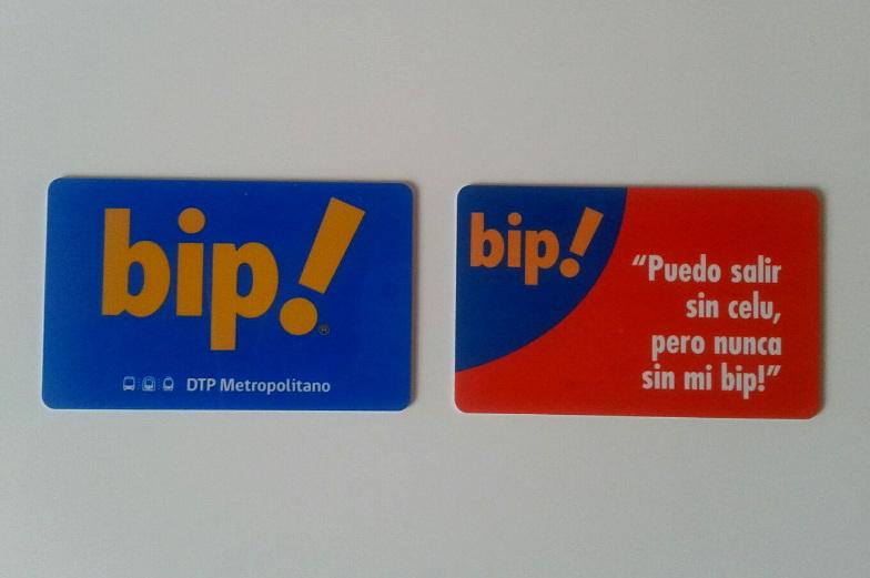 Die Bip Karte ist eine Zahlkarte von den Nahverkehr in Santiago