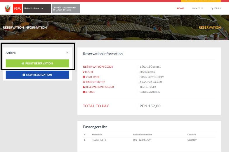 Reserviere dein Machu Picchu Ticket