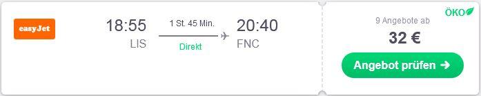 Mit easyjet von Lissabon nach Madeira fliegen